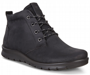 ECCO Ladies Babett Boots Black Nubuck